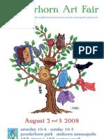 Powderhorn Art Fair Program 2008