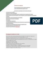 Características de problemas en la conducta