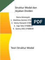 Teori Struktur Modal Dan Kebijakan Dividen