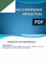 Derecho o Propiedad Intelectual