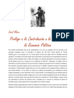 Prólogo a la Contribución a la Economía Política.