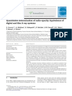 Quantitative Determination of Radio-opacity Equivalence of Digital and Film X-ray Systems