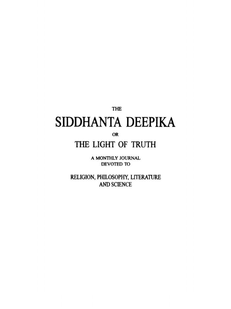 Siddhanta Deepika Volume 2 Moksha