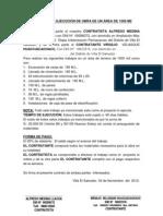 CONTRATO DE EJECUCIÓN DE OBRA DE UN ÁREA DE 1500 M2