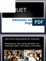 Introduction to MUET 13 May 2013 by Rosyn T- Maktab Sabah Kota KInabalu