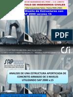EDIFICIO APORTICADO 3N-C°A°-SAP2000V15
