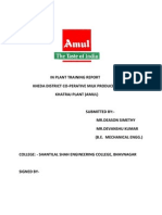 In Plant Training Report
