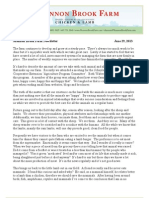 Shannon Brook Farm Newsletter 6-29-2013