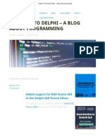 Delphi _ the Road to Delphi - A Blog About Programming