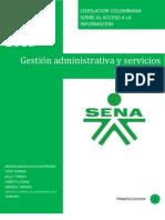 Legislacion Colomniana Sobre Acceso a La Informacion