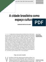 a cidade brasileira como espaço cultural