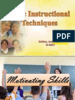Basic Instructional Techniques