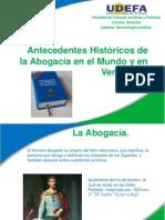 Antecedentes Históricos de la Abogacía en el Mundo y en Venezuela