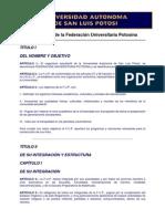 reglamento de federación Universitaria de Cordova.