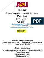 Power Systems Operation and Planning - EEE 577
