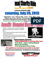 2013 Bike Rally Flyer