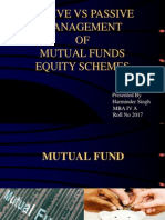 Presentation on Active vs Passive Management of Mutual Funds-Harminder Singh 2017