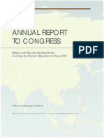 Military and Security Developments Involving the People's Republic of China 2013