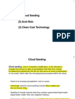 Types of weather modification.