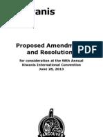 KI Amendments 2013