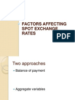Factors Affecting Spot Exchange Rates