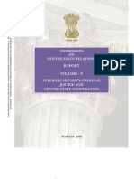 Punchhi Commission Report Volume 5 on Centre State Relaitons.