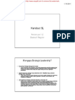Handout Strategic Leadership tutorial