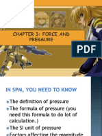 3.1 Force and Pressure