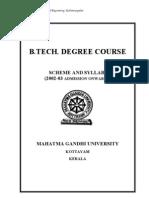MG University B Tech (Scheme & Syllabi) 2002-2003