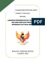 Raja Ampat District Regulation 9/2012 - Bahasa Indonesia