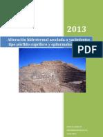 Alteración hidrotermal asociada a yacimientos tipo pórfido cuprífero y epitermales de Au