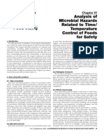 Analysis of Microbial Hazards Related to TimeTemperature Control of Foods for Safety