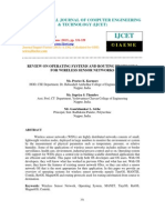 Review on Operating Systems and Routing Protocols for Wireless Sensor