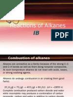 Alkanes Reactions