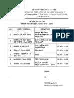 Jadwal Kegiatan Ppdb MTsN Malang 2 Thn 2013