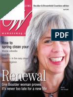Women's Magazine - Boulder, CO April, 2009