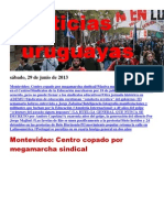 Noticias Uruguayas sábado 29 de junio del 2013