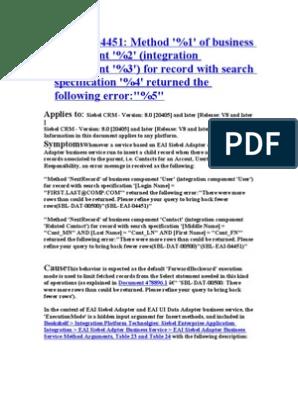 SBL Errors | Oracle Database | Parameter (Computer Programming)
