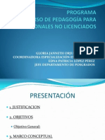 Programa y Sesion i