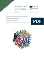 Análise da quantidade de ferro na ferritina - aula prática de Química Bioinorgânica