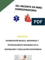Manejo Del Paciente en Paro Cardiorrespiratorio