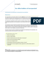 Fact Sheet What is the New Indemnity for Office Holders of Incorporated Associations