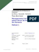 Referat 1- Doctorat Managementul de Proiect Ver 01