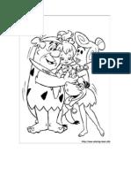 Coloring Worksheet - Flinstones theme