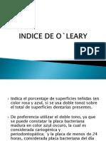 Indice de o`Leary
