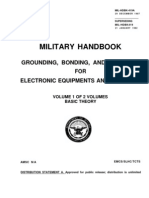 MILITARY HANDBOOK GROUNDING, BONDING, AND SHIELDING FOR ELECTRONIC EQUIPMENTS AND FACILITIES VOLUME 1 OF 2 VOLUMES - BASIC THEORY