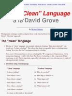 Using Clean Language
