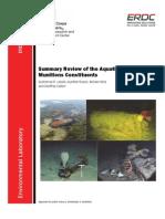 ERDC/EL TR-13-8 Summary review of the aquatic toxicology of munitions constituents