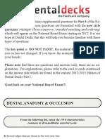 Dental Decks Part 1 2012 13