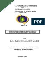 Proyecto con último formato UNCP (Post Grado 2012)